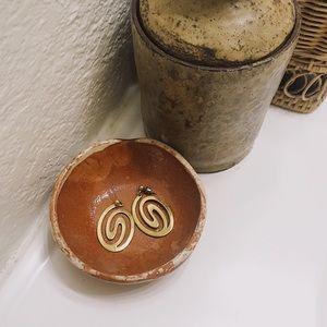 Vintage Gold Swirl Earrings